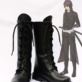 Hakuouki Cosplay Hajime Saito Cosplay Black Show Boots