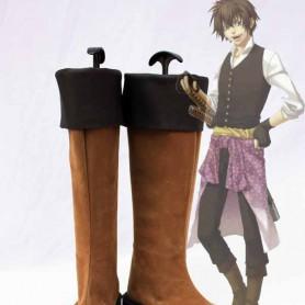 Hakuouki Cosplay Heisuke Toudou Leather Cosplay Boots