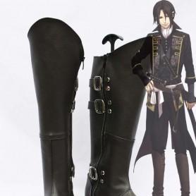 Hakuouki Toshizo Hijikata Cosplay Leather Show Boots