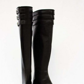 Type-H Vocaloid Black PU Cosplay Boots
