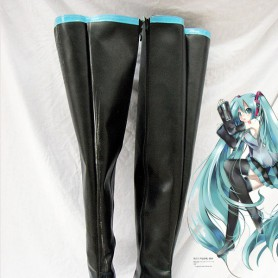 Vocaloid Cosplay Hatsune Miku Black & Skyblue Cosplay Boots