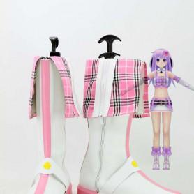 Hyperdimension Neptunia Nepgear/Purple Sister Pink Cosplay Boots