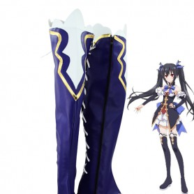 Hyperdimension Neptunia Noire/Black Heart Blue Cosplay Boots