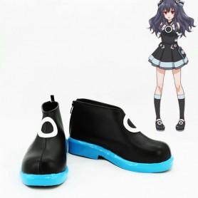 Hyperdimension Neptunia Uni Black Sister Cosplay Boots