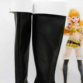 Idolm@ster Miki Hoshii Black & White Cosplay Boots