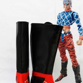 JOJO Guido Mista Black & Red Cosplay Boots