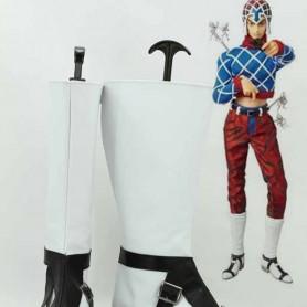 JOJO Guido Mista Black & White Cosplay Boots