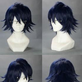 K Project Cosplay Fushimi Saruhiko Blue Cosplay Wig