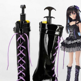 The Idolmaster Rin Shibuya Black Cosplay Boots