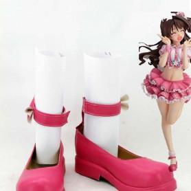 The Idolmaster Uzuki Shimamura Pink Cosplay Shoes