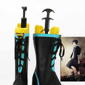 K Project Cosplay Misaki Yata Black & Blue Cosplay Boots