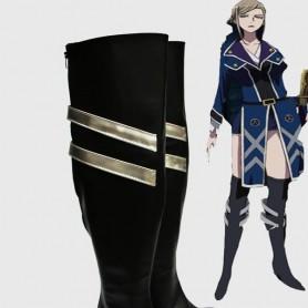 K Project Cosplay Seri Awashima Cosplay Black Cosplay Boots