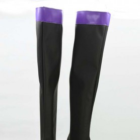 Kagerou Project Tsubomi Kido Black & Purple Cosplay Boots