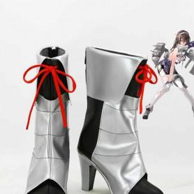 Kantai Collection Fleet Girls Ashigara Silver & Black Cosplay Boots