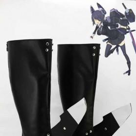 Kantai Collection Fleet Girls Tenryuu Black Cosplay Boots