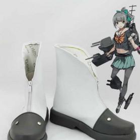 Kantai Collection Yubari White & Grey Cosply Boots