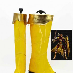 League of Legends Leona Yellow Cosplay Boots