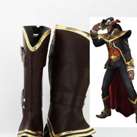 League of Legends Card Master Brown Cosplay Boots