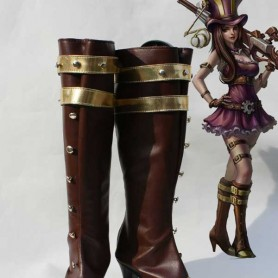 League of Legends Cosplay Caitlyn Brown Cosplay Boots
