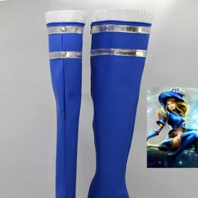 League of Legends Lux Blue Hight Heel Cosplay Boots