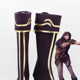 League of Legends The Goddess of War Shivell Purple Cosplay Boots