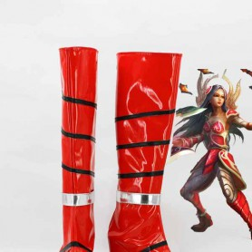 League of Legends The Will of the Blades Irelia Cosplay Boots