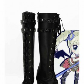 Aikatsu! Yurika Todo Black Cosplay Boots