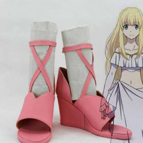 Aldnoah Zero Asseylum Vers Allusia Pink Cosplay Shoes
