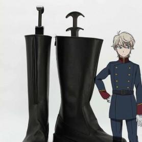 Aldnoah Zero Slaine Troyard Black Cosplay Boots