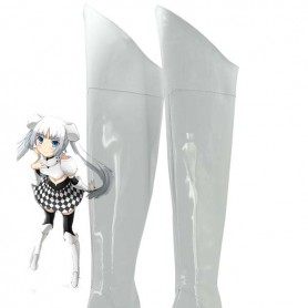 Miss Monochrome -The Animation Cosplay Miss Monochrome White Cosplay Boots