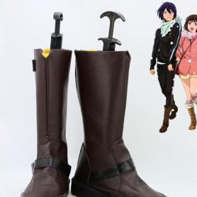 Noragami Cosplay Yato Brown PU Cosplay Boots