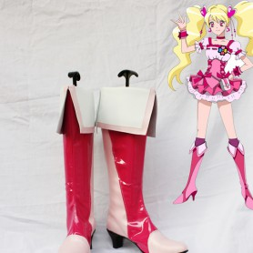 Pretty Cure 6 Cure Peach Red & Pink Cosplay Boots