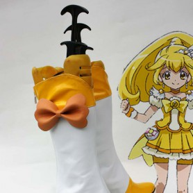 Smile Pretty Cure Kise Yayoi/Cure Peace Yellow Cosplay Boots