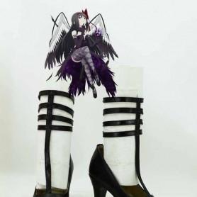 Puella Magi Madoka Magica Cosplay Homura Akemi Black Cosplay Shoes