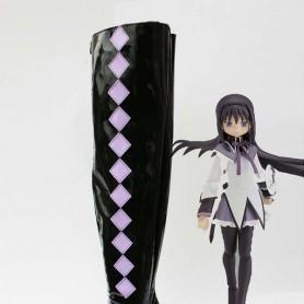 Puella Magi Madoka Magica Cosplay Homura Akemi Cosplay Boots
