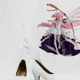 Puella Magi Madoka Magica Cosplay Kaname Madoka White Cosplay Shoes