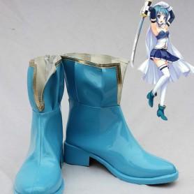 Puella Magi Madoka Magica Cosplay Miki Sayaka Blue Cosplay Boots