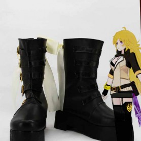 RWBY 2 Yellow Trailer Yang Xiao Long Black Cosplay Boots