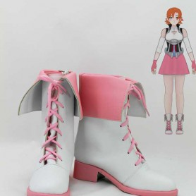 RWBY Nora Valkyrie Pink & White Cosplay Boots