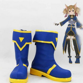 Sword Art Online Calibur Silica Cosplay Boots