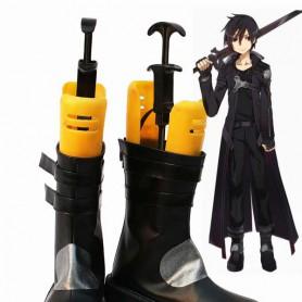 Sword Art Online Cosplay Kirito Black Coslay Boots