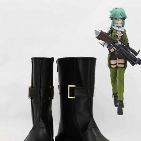 Sword Art Online II Phantom Bullet Asada Shino/Sinon Cosplay Boots