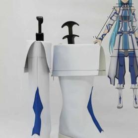 Sword Art Online Yuuki Asuna White & Blue Cosplay Boots