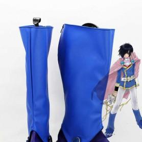 Tales of Destiny Leon Magnus Magnus Blue Cosplay Boots