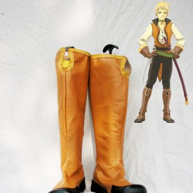 Tales of the Abyss Guy Cecil Black & Brown Cosplay Boots
