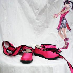 Tekken 5 Ling Xiaoyu Cosplay Shoes