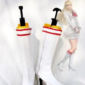 Tekken 5DR Lili White Cosplay Boots