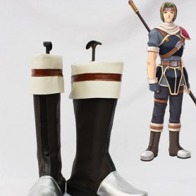 The Legend of Heroes VI Kurz Nardin Brown Cosplay Boots
