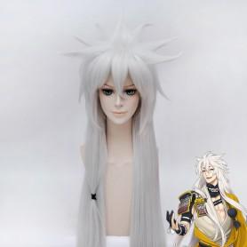 100cm Touken Ranbu Online Tachi Kogitsunemaru Silver Cosplay Wig