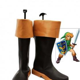 The Legend of Zelda Link Brown & Black Cosplay Boots